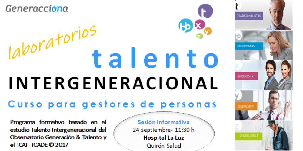 """Curso """"Laboratorios Talento Intergeneracional"""" – Sesión informativa – 24/09/2018"""