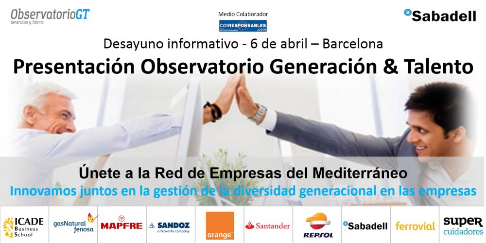 Presentación Observatorio Generación y Talento – Torre BancSabadell-  6 de abril en Barcelona