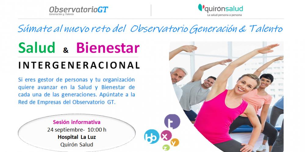 Súmate al nuevo reto – Salud  &  Bienestar Intergeneracional – Sesión informativa 24/09/2018