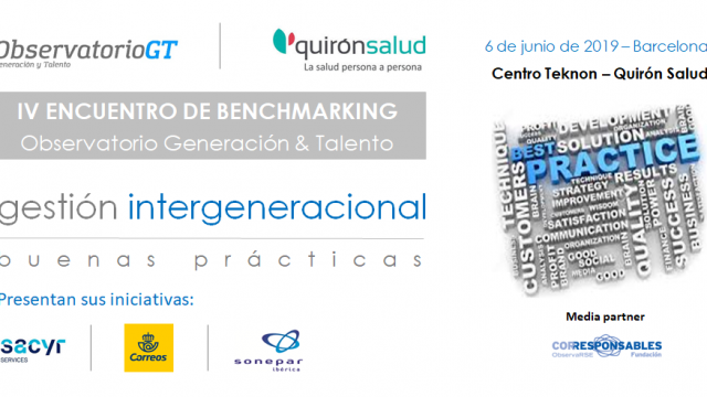 Correos + Sacyr + Sonepar presentarán sus Buenas Prácticas de Diversidad Generacional –  06/06/2019 – BARCELONA