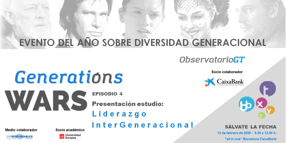 GENERATION WARS IV- EVENTO DEL AÑO SOBRE DIVERSIDAD GENERACIONAL EN BARCELONA – SÁLVATE LA FECHA – 12/02/2020