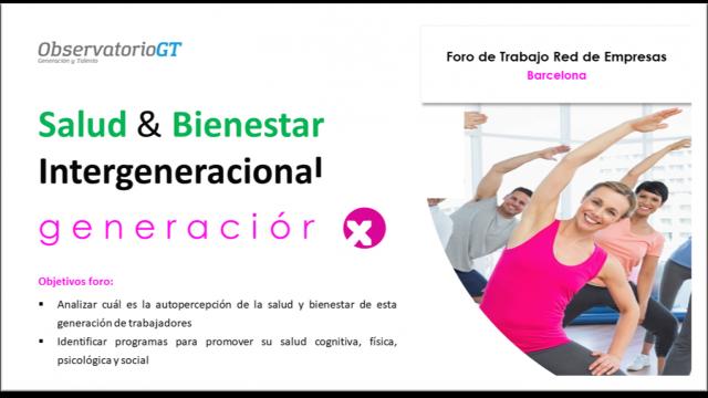 Foro Salud y Bienestar Generación X – Barcelona
