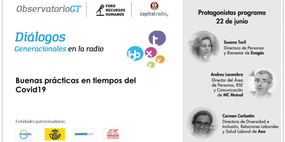 Diálogos Covid19 con Enagás, MC Mutual y AXA en el Foro RRHH