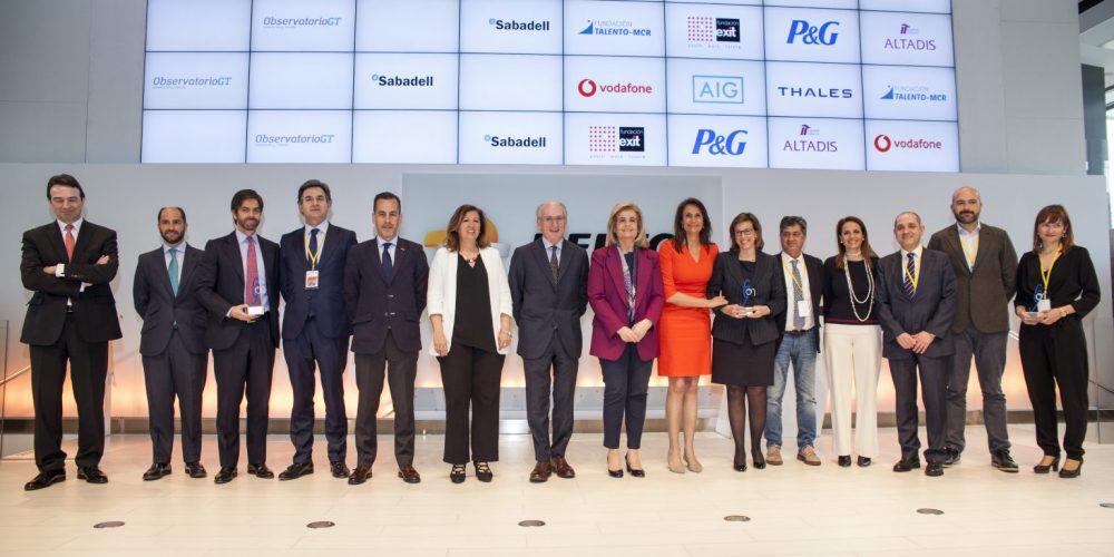Altadis, Fundación Exit, AIG Seguros, Vodafone, y Fundación Talento – MCR Acción solidaria, premios Generacción a las mejores prácticas en la gestión de la diversidad generacional