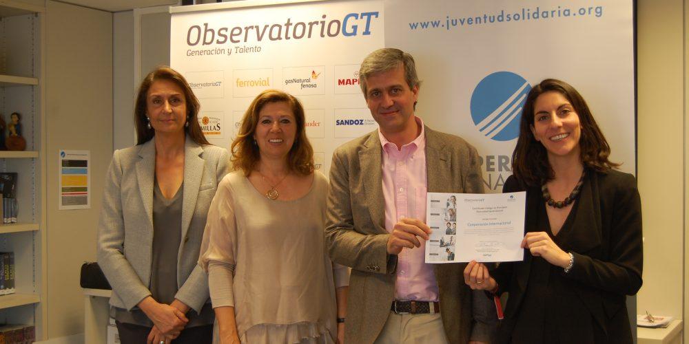 COOPERACIÓN INTERNACIONAL ONG se integra al Consejo Asesor del Observatorio Generación y Talento y se adhiere al Código de Principios de Diversidad Generacional