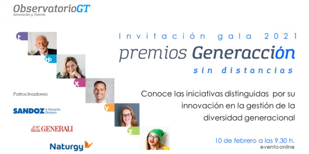"""Acto de entrega de los III Premios Generacción """"Sin distancias"""". Conoce las iniciativas distinguidas  por su  innovación en la gestión de la  diversidad generacional"""