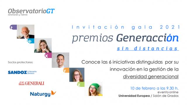 Gala Premios Generacción 2021 «Sin distancias». Conoce las 6 mejores iniciativas en Diversidad Generacional