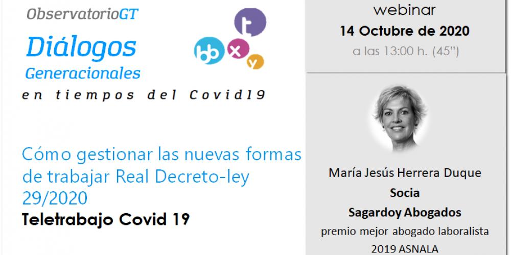 María Jesús Herrera, experta laboralista de Sagardoy, analiza la Ley del Teletrabajo