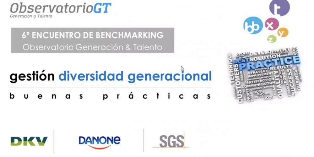 Danone, DKV y SGS presentan sus buenas prácticas en diversidad generacional en el VI Encuentro de Benchmarking del Observatorio GT