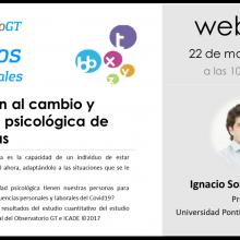 Diálogos del Covid19, «Adaptación al cambio y flexibilidad psicológica» con el Doctor Ignacio Sobrino